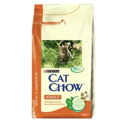 CAT CHOW ADULT Chicken Turkey 1.5kg
